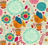 Configuration florale décorative illustration de vecteur