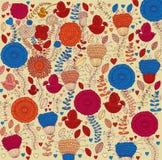 Configuration florale décorative illustration stock