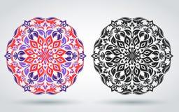 Configuration florale décorative mandala Oriental, indien, turc, ornement islamique Calibre pour décorer des textiles, bannières, illustration stock