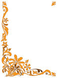 Configuration florale d'or Images stock