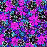 Configuration florale de cru Photos stock