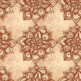 Configuration florale de cru avec des fleurs de griffonnage Photos libres de droits