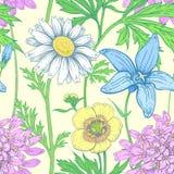 Configuration florale de vecteur sans joint illustration libre de droits