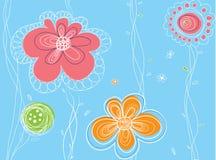 Configuration florale de vecteur sans joint Images libres de droits