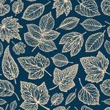 Configuration florale Feuilles décoratives, concept Illustration sans couture de vecteur de fond illustration stock