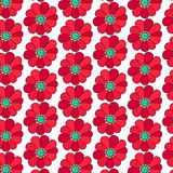 Configuration florale Fleurs rouges illustration stock