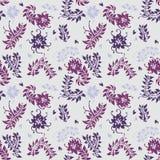 Configuration florale Fond sans joint de fleur de vecteur Images libres de droits