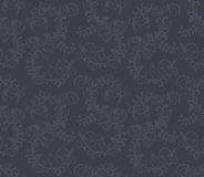 Configuration florale grise foncée sans joint Photographie stock libre de droits