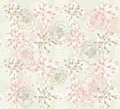 Configuration florale mignonne sans joint Image libre de droits