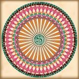 Configuration florale ronde ornementale Images libres de droits