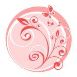Configuration florale rose Images libres de droits