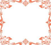 Configuration florale rouge Images libres de droits