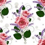Configuration florale sans joint avec des fleurs illustration stock