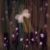 Configuration florale sans joint d'art Photographie stock libre de droits