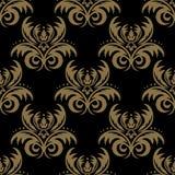 Configuration florale sans joint de damassé de vecteur Ornement riche, vieux Damasc Image stock