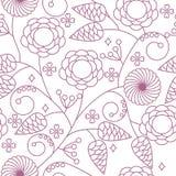 Configuration florale sans joint de fond Images libres de droits