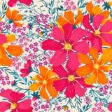 Configuration florale sans joint de vecteur Images libres de droits