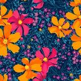 Configuration florale sans joint de vecteur Photo libre de droits