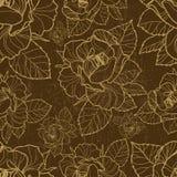 Configuration florale sans joint de vecteur avec l'herbier illustration stock