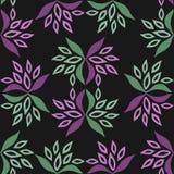 Configuration florale sans joint Fleurs et texture de feuille illustration stock