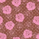 Configuration florale sans joint ou fond élégant de rose de rose de cru Image stock