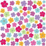 Configuration florale sans joint, papier peint Image libre de droits