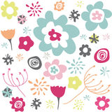 Configuration florale sans joint, papier peint Photographie stock libre de droits
