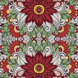 Configuration florale sans joint (vecteur) Image stock