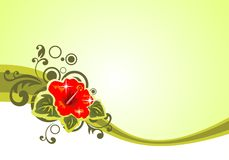 Configuration florale verte illustration stock