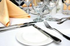Configuration formelle de dîner Photographie stock