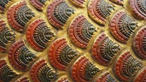 Configuration géante d'or antique asiatique d'échelle de serpent Photographie stock libre de droits