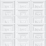 Configuration géométrique abstraite Ornement architectural de forme carrée Photo stock