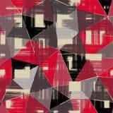 Configuration géométrique abstraite sans joint Fond rouge, noir, gris de triangles illustration libre de droits