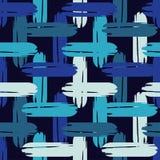 Configuration géométrique abstraite sans joint La texture des bandes brushwork Hachure de main Texture de griffonnage Photos libres de droits