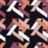 Configuration géométrique abstraite sans joint La texture des bandes brushwork Hachure de main Texture de griffonnage Image libre de droits