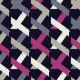 Configuration géométrique abstraite sans joint La texture des bandes brushwork Hachure de main Texture de griffonnage Images stock