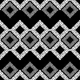 Configuration géométrique abstraite sans joint La texture du losange La texture des points brushwork Hachure de main Image libre de droits