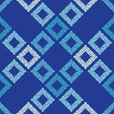 Configuration géométrique abstraite sans joint La texture du losange La texture des points brushwork Hachure de main Images libres de droits