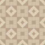 Configuration géométrique abstraite sans joint Plancher de Brown avec la texture en bois Couvre-tapis asiatique Hachure de main T illustration de vecteur