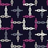 Configuration géométrique abstraite sans joint Texture de mosaïque Texture à chaînes brushwork Hachure de main Texture de griffon Photos stock