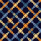 Configuration géométrique abstraite sans joint Texture de mosaïque Texture à chaînes brushwork Hachure de main Texture de griffon Photo stock
