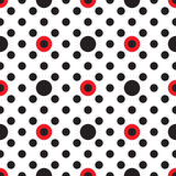 Configuration géométrique abstraite Un fond sans joint Texture noire, rouge et blanche Images libres de droits