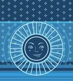 Configuration géométrique avec le symbole du soleil Image stock