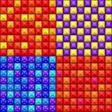 Configuration géométrique colorée sans joint Photos libres de droits