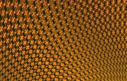 Configuration géométrique dans des couleurs jaunes Illustration Stock