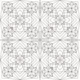 Configuration géométrique Page pour livre de coloriage Photo libre de droits