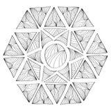Configuration géométrique Page pour livre de coloriage Image libre de droits