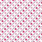 Configuration géométrique sans joint avec des coeurs Vecteur Photo libre de droits