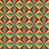 Configuration géométrique sans joint colorée Images libres de droits
