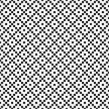 Configuration géométrique sans joint de vecteur Texture simple des places Fond noir et blanc Conception monochrome illustration libre de droits